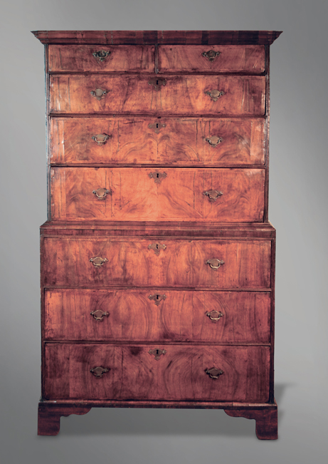 huge discount 8a1d1 41fde Fine English walnut tallboy chest of drawers, c. 1690s